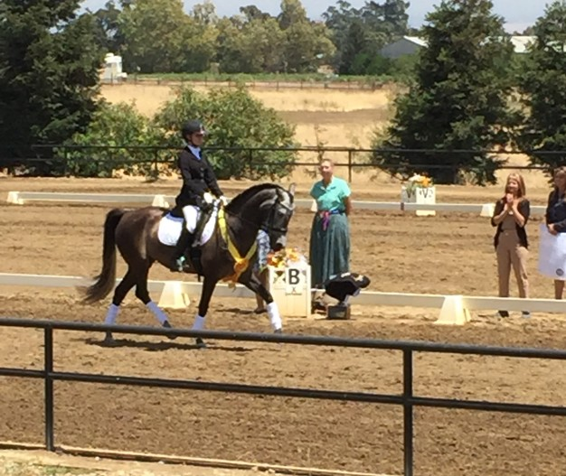 Izzy and Zade's award ceremony victory lap. Training level 3rd place